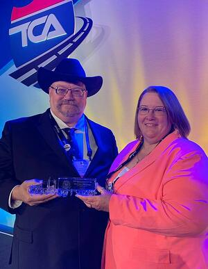 Ed and Tracy Zimmerman receive 2019 Highway Angel Award at the TCA2020 in Orlando